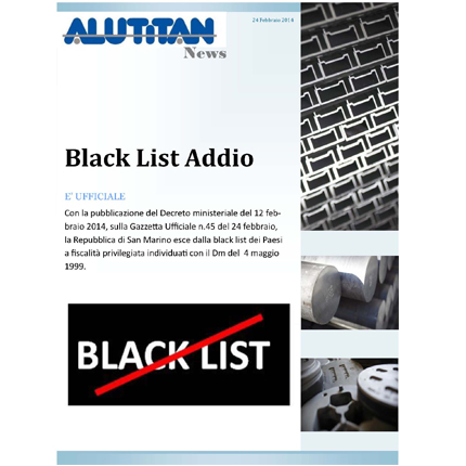 BLACK LIST ADDIO, Alutitan News